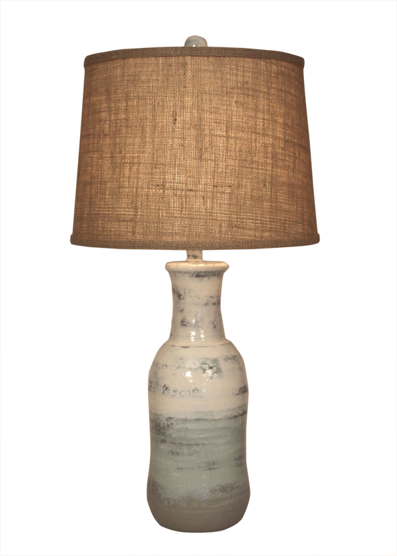 Alabaster Faux Clay Water Jug Lamp - Coast Lamp Shop