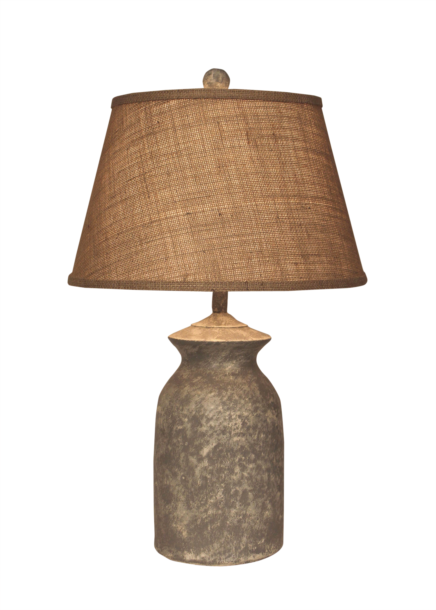 Cement Short Pottery Table Lamp