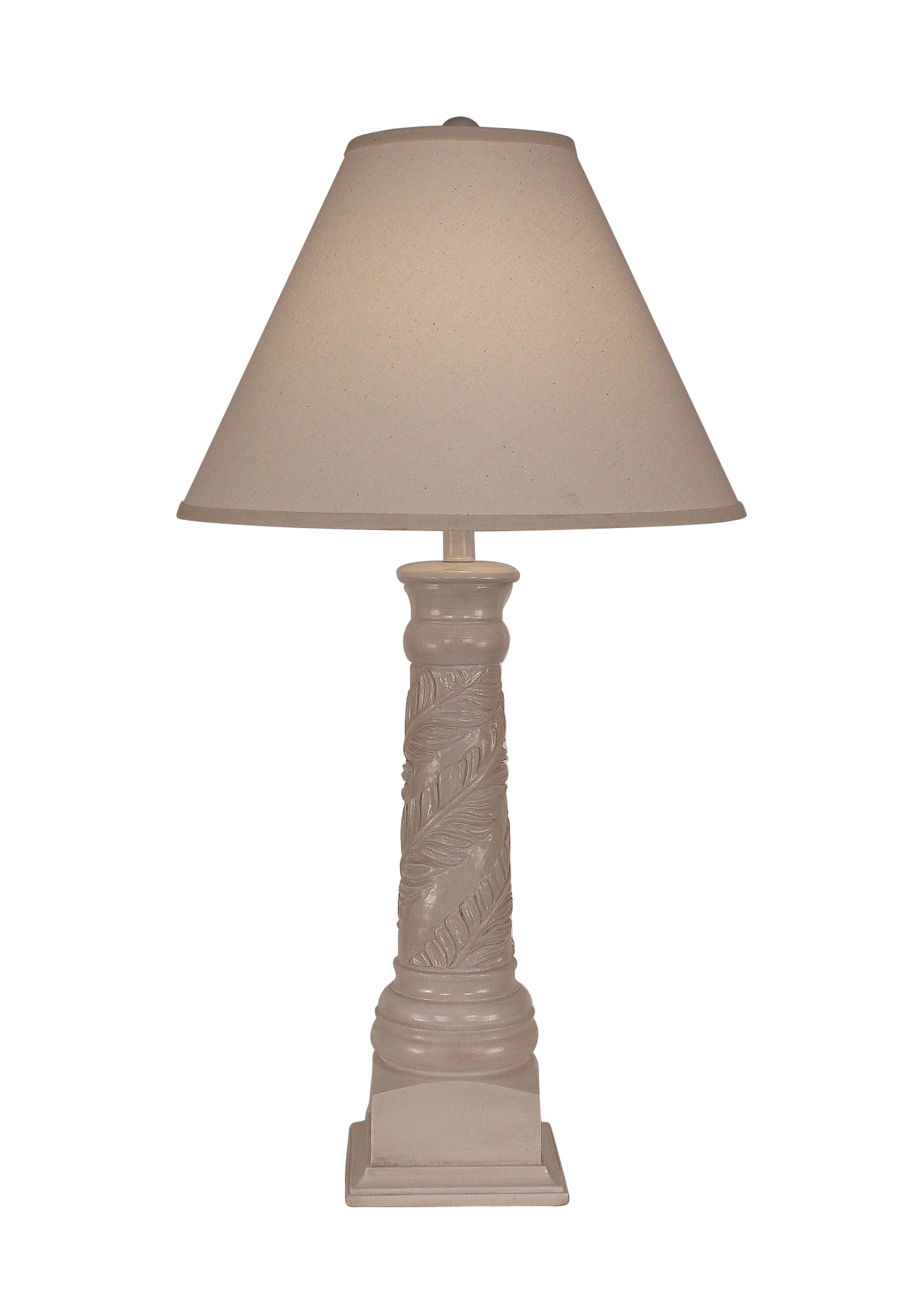 Antique Light Nude Banana Leaf Table Lamp