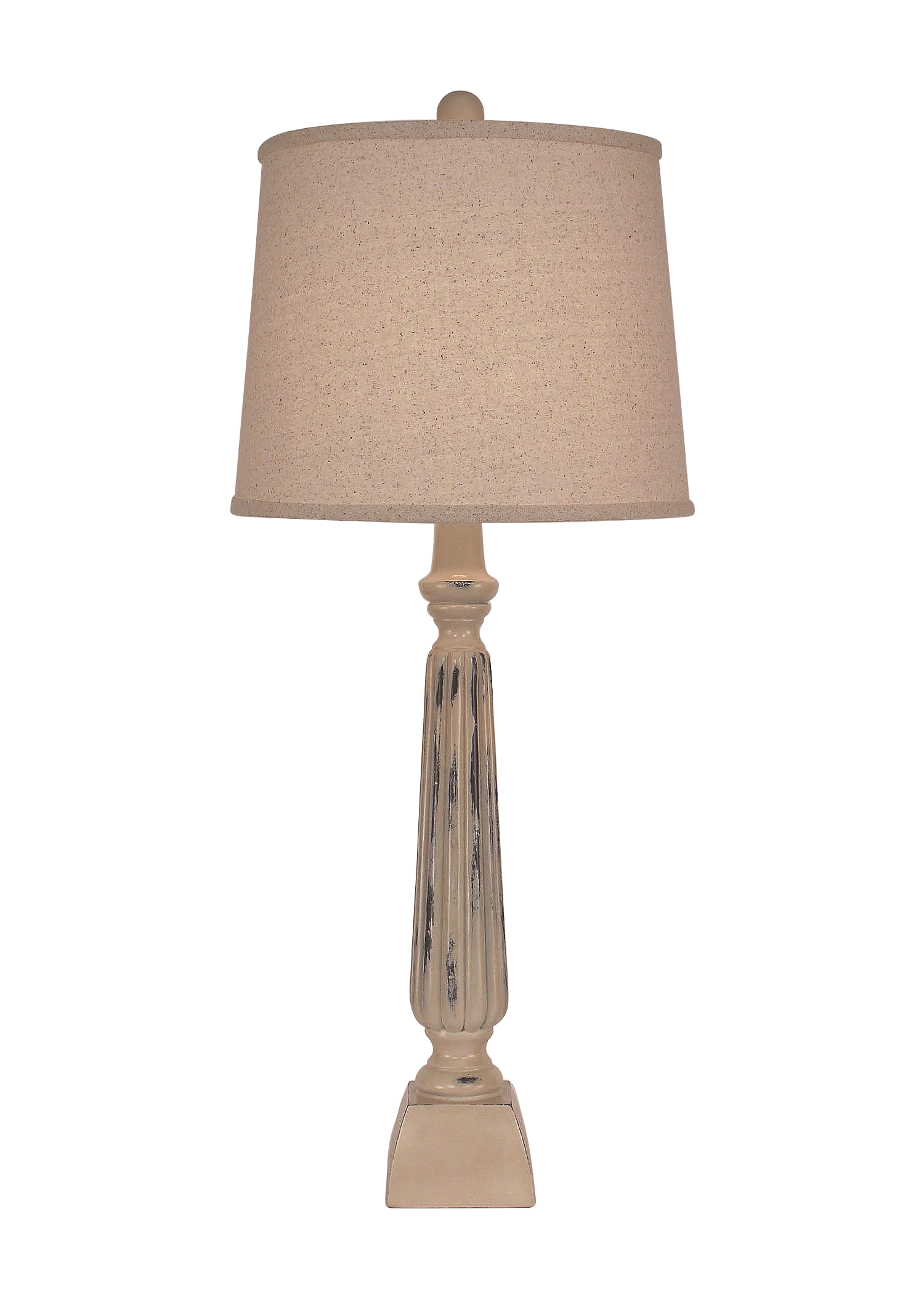 Distressed Cottage Ribbed Candlestick Table Lamp - Coast Lamp Shop