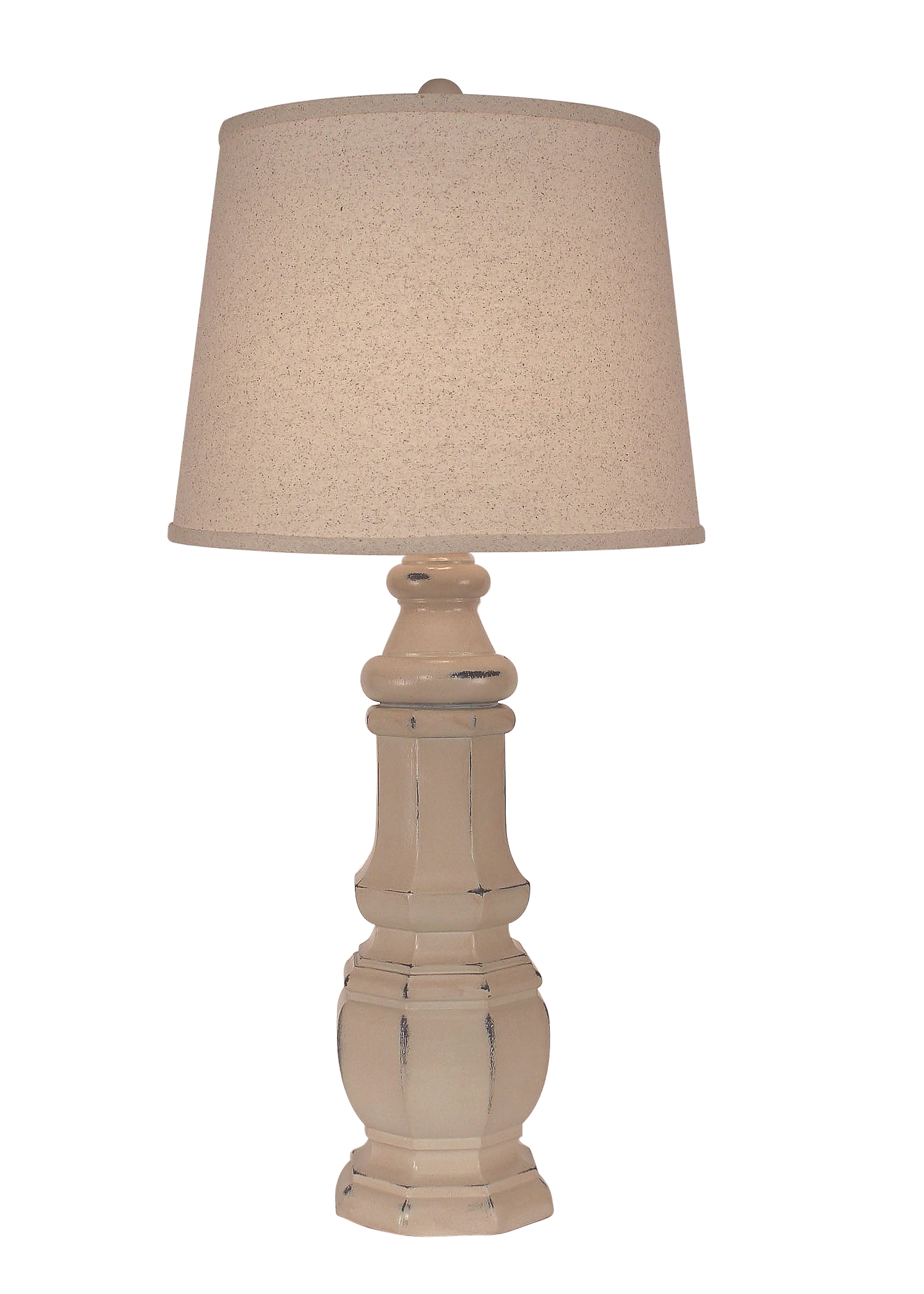 Distressed Cottage Octagon Table Lamp - Coast Lamp Shop