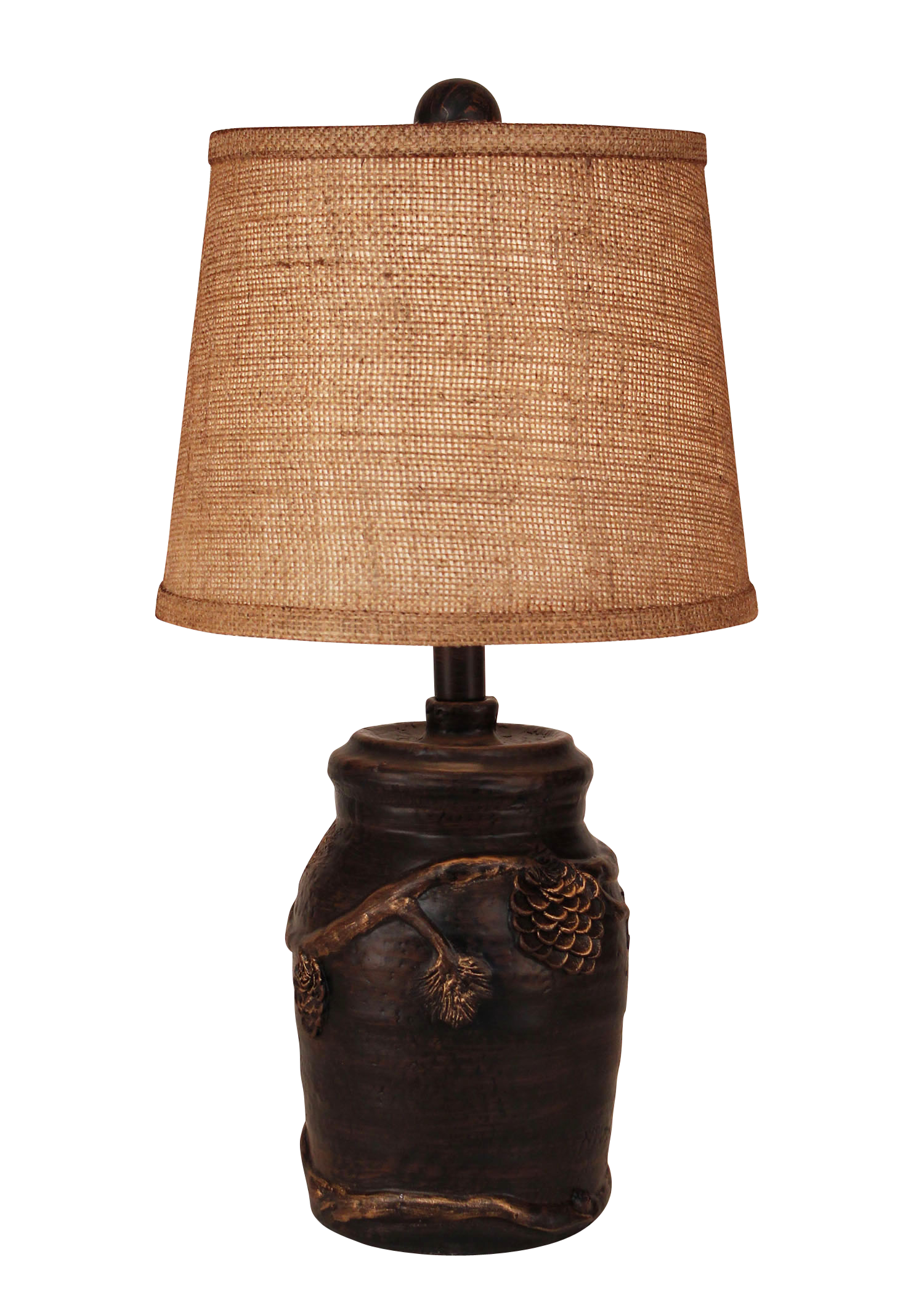 Burnt Sienna Mini Pine Cone Accent Lamp - Coast Lamp Shop