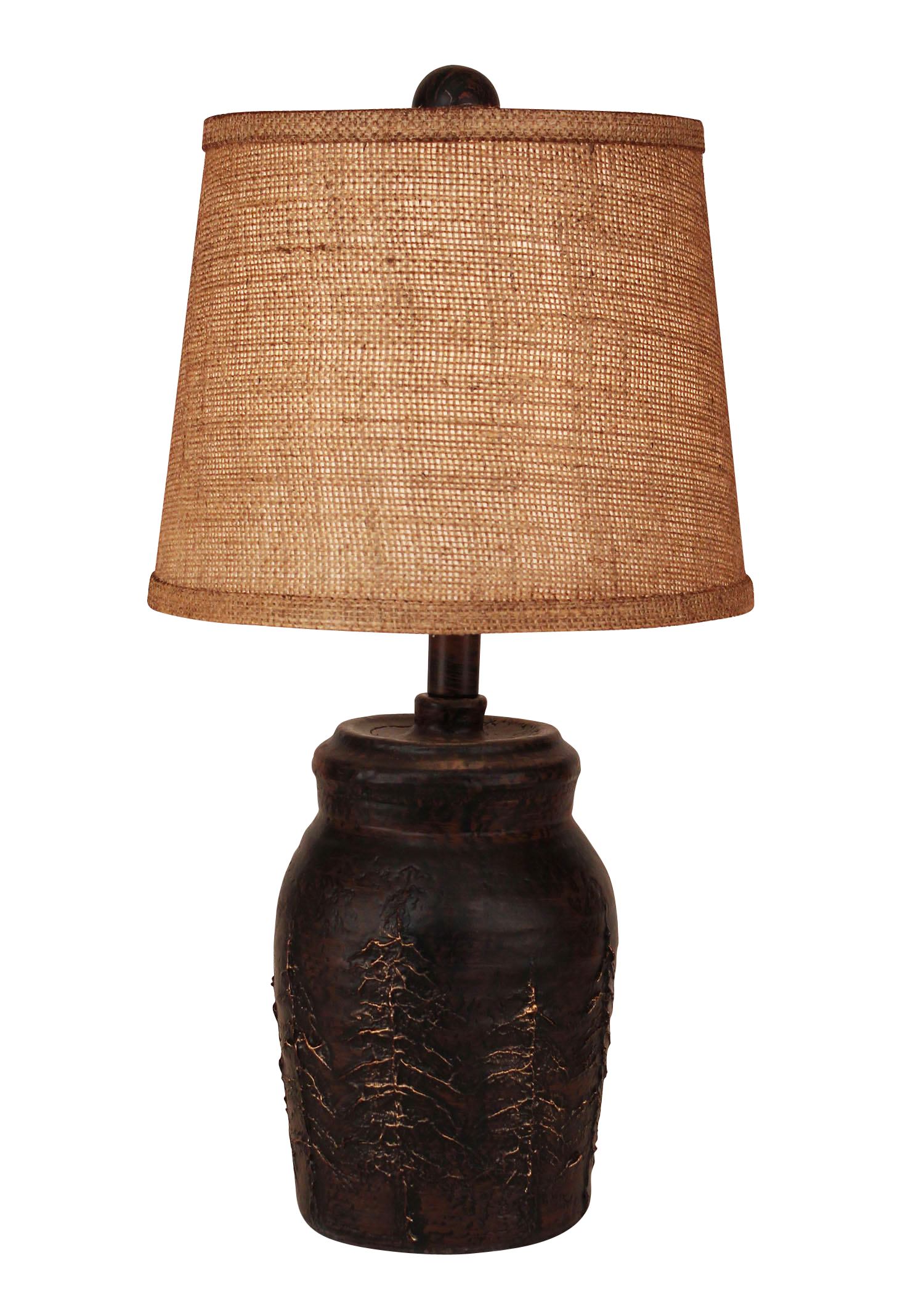 Burnt Sienna Mini Pine Tree Accent Lamp - Coast Lamp Shop