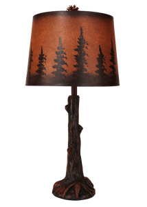 Rust Tree Trunk with Root Table Lamp - Coast Lamp Shop