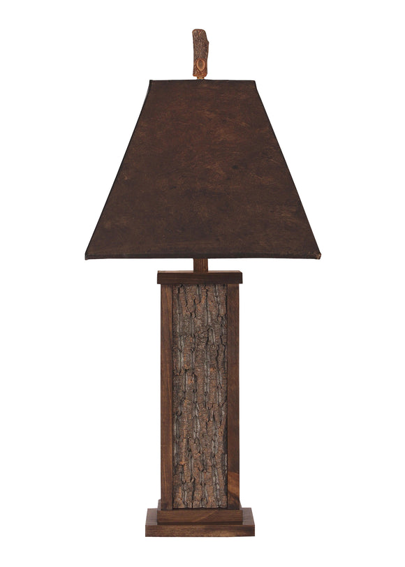 Aspen Poplar Bark with Wood Accent Table Lamp - Coast Lamp Shop