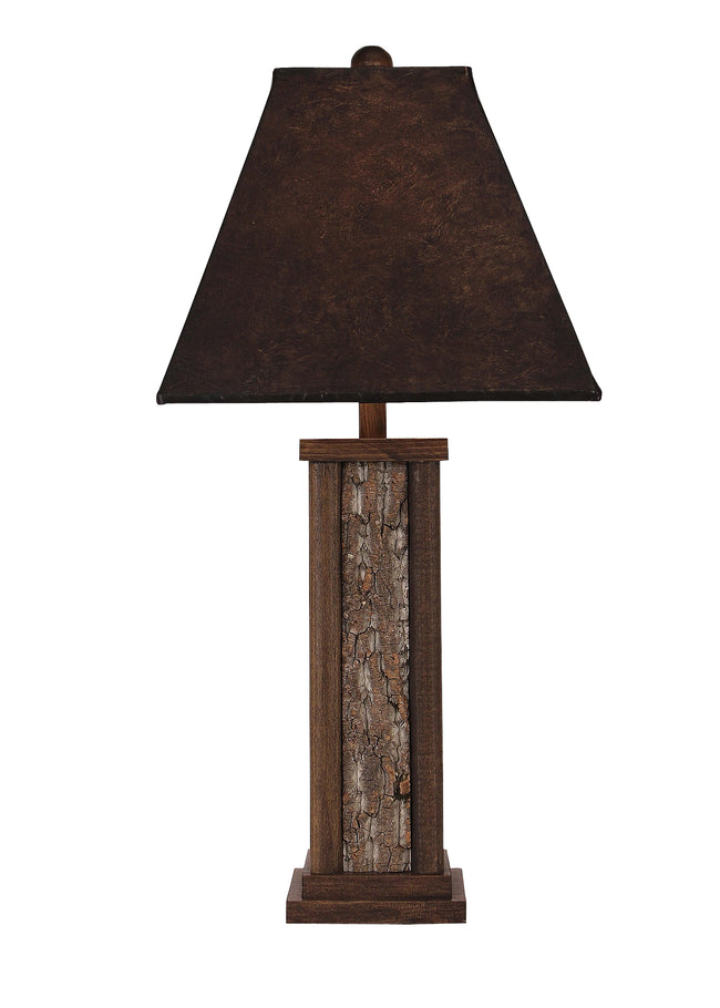 Aspen Poplar Bark with Wooden Dowel Accent Table Lamp - Coast Lamp Shop