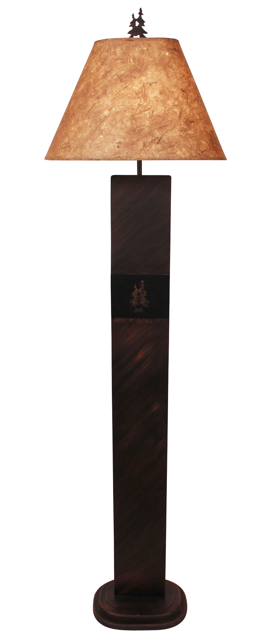Burnt Sienna Double Pine Tree Panel Floor Lamp - Coast Lamp Shop