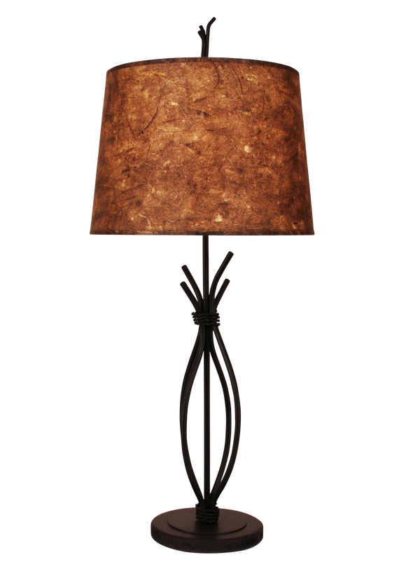 Kodiak Iron Stack with Braided Wire Table Lamp - Coast Lamp Shop