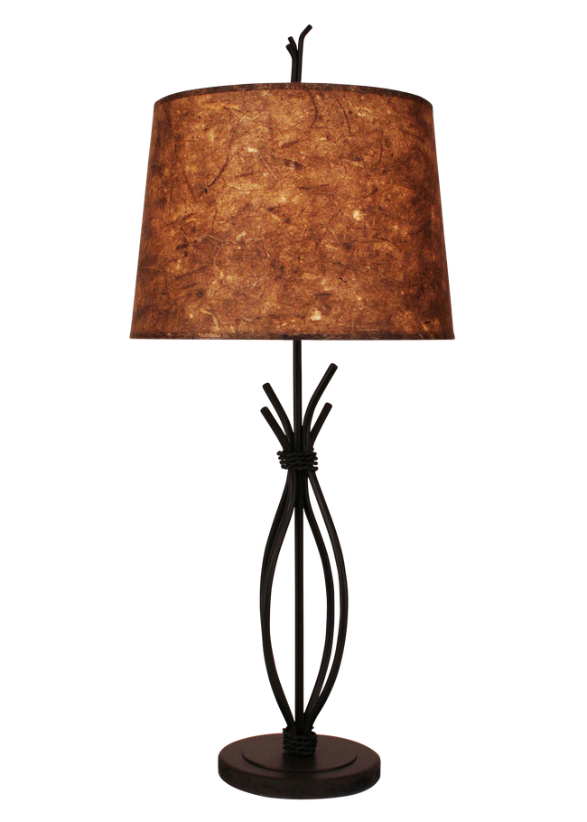Kodiak Iron Stack with Braided Wire Table Lamp