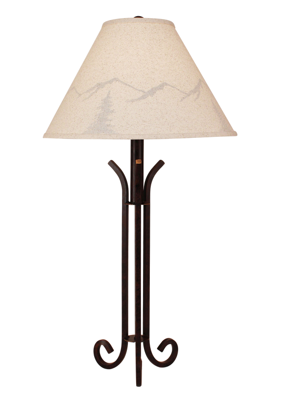 Rust Iron Table Lamp with 3 Legs - Coast Lamp Shop