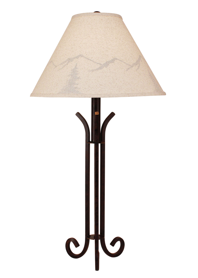 Rust Iron Table Lamp with 3 Legs