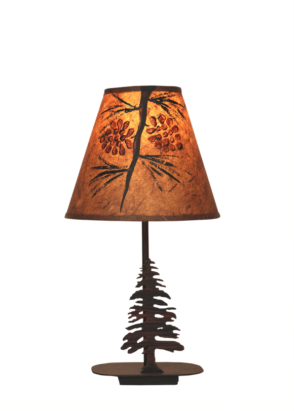 Mini Iron Pine Tree  Lamp - Coast Lamp Shop