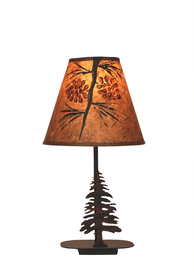 Mini Iron Pine Tree  Lamp