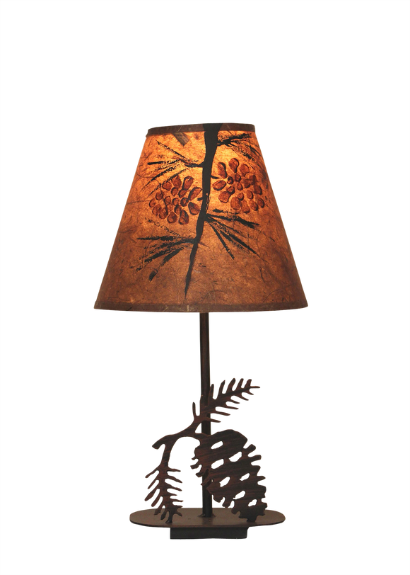 Mini Iron Pine Cone Lamp - Coast Lamp Shop