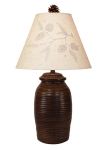 Aspen Small Ribbed Pot- Silhouette Pine Branch Shade - Coast Lamp Shop