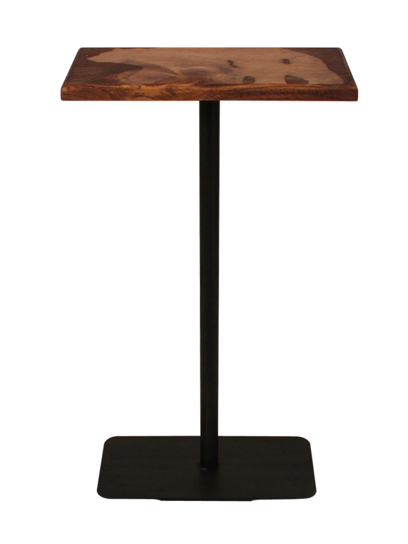Wood Top Drink Table with Bear Accent - Coast Lamp Shop