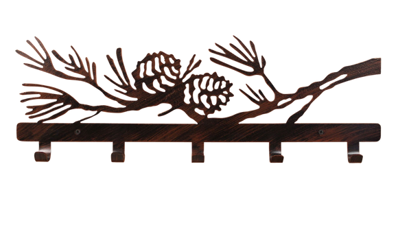Iron Pine Branch Coat Rack - Coast Lamp Shop