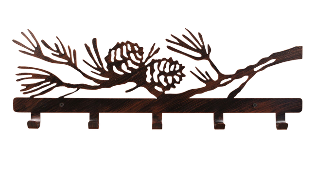 Iron Pine Branch Coat Rack