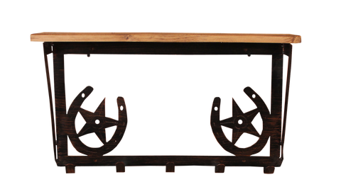 6x24 Elk Scene Coat Rack w/ Shelf