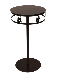 Iron Band of Double Trees Drink Table - Coast Lamp Shop