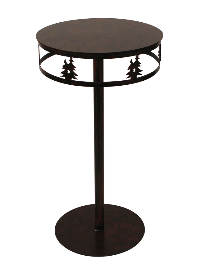 Iron Band of Double Trees Drink Table