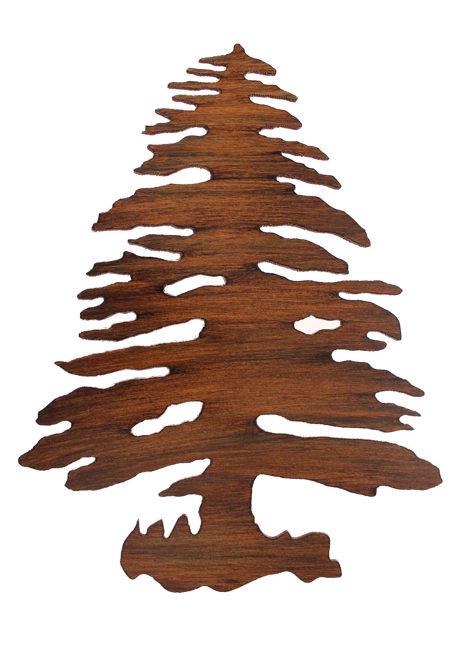Iron Pine Tree Drink Table