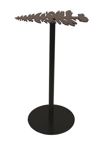 Distressed Morning Jewel Plain Pedestal Coat Rack