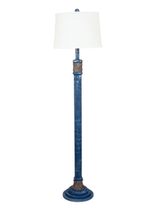 Weathered Denim Rope Accent Floor Lamp