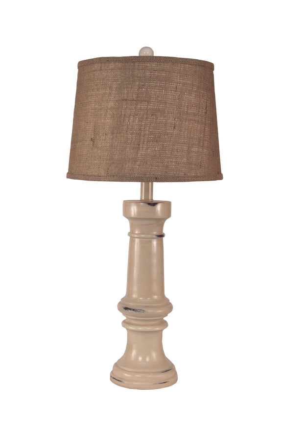 Distressed Cottage Chunky Casual Table Lamp - Coast Lamp Shop