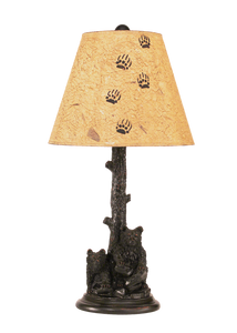 2 Bear Cubs in Tree Table Lamp - Coast Lamp Shop