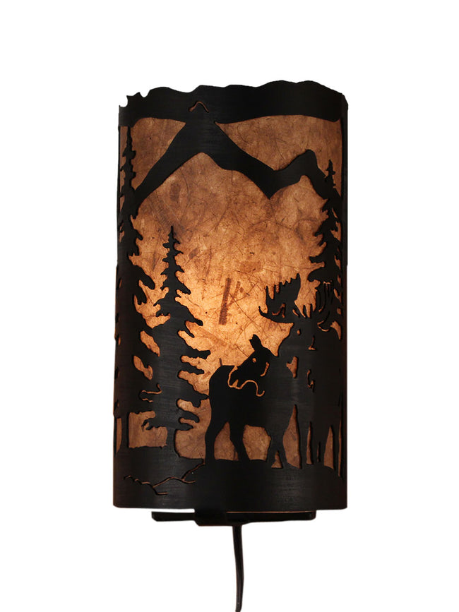 Moose Scene Panel Sconce - Coast Lamp Shop