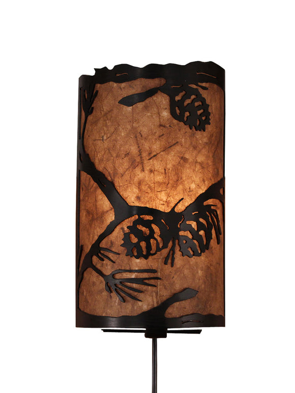 Pine Branch Scene Panel Sconce - Coast Lamp Shop
