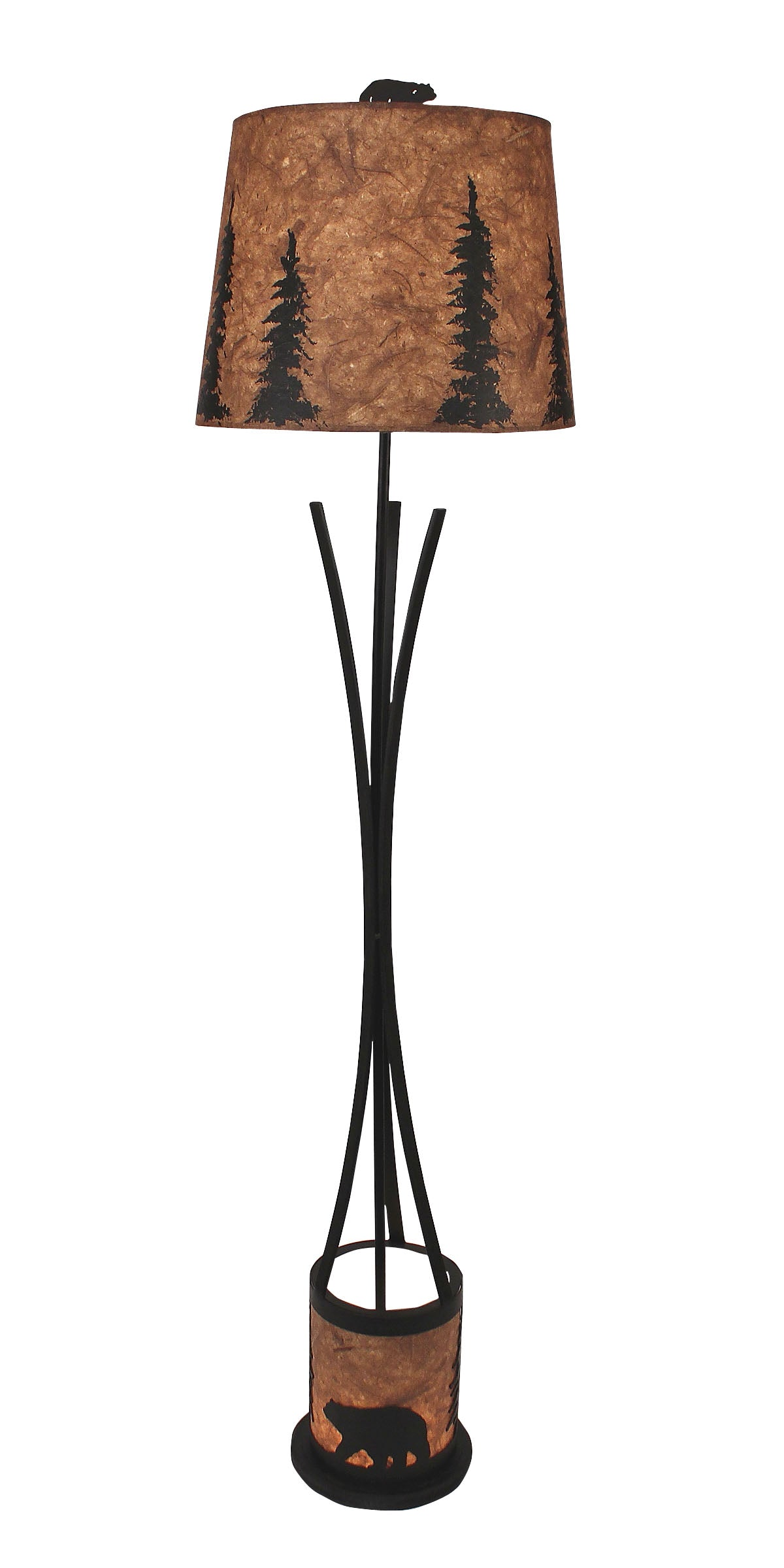 Flat Bar Floor Lamp with Bear Scene Night Light - Coast Lamp Shop