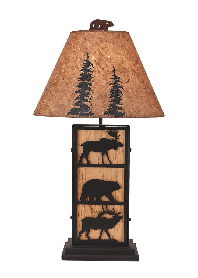 Rustic table lamps coast lamp shop wildlife ironwood table lamp coast lamp shop aloadofball