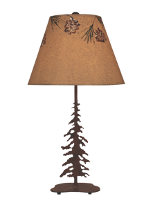 Charred Pounced Single Feather Tree Table Lamp