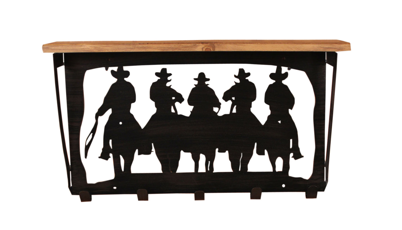 6x24 Cowboys Scene Coat Rack w/ Shelf - Coast Lamp Shop