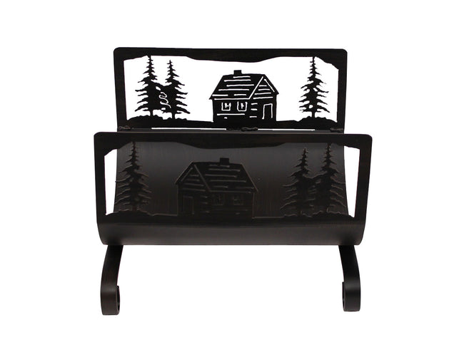 Cabin Scene Wood Holder - Coast Lamp Shop