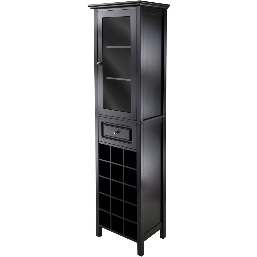 BURGUNDY 15-Bottle Bar Cabinet Black - barsforhomes.com