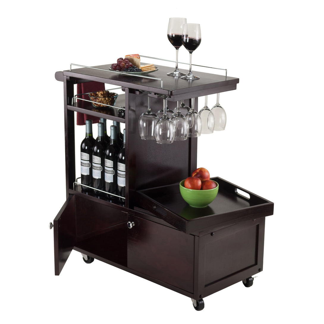 GALEN Entertainment Cart Espresso - barsforhomes.com