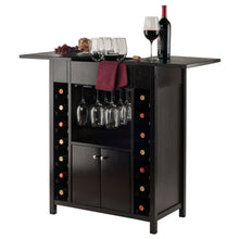 YUKON Bar Cabinet--14-Bottle Extendable Top-Espresso - barsforhomes.com