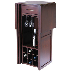NEWPORT 9-Bottle Extendable Bar-Walnut - barsforhomes.com