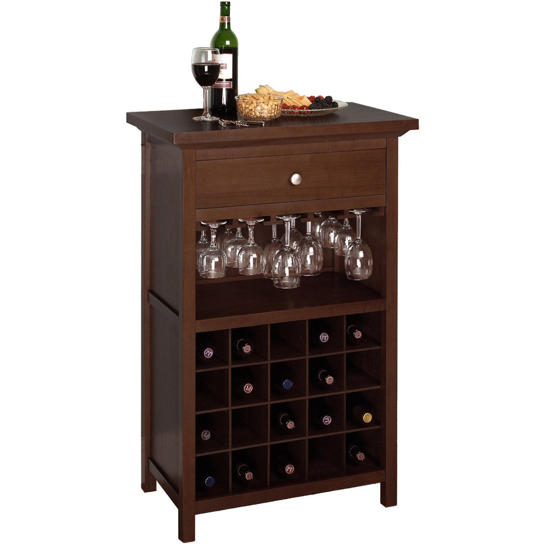 Chablis 20 Bottle Bar Cabinet Walnut - barsforhomes.com