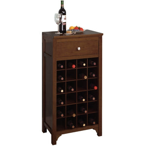 Sonoma 24-Bottle Modular Bar Cabinet Natural/Walnut - barsforhomes.com