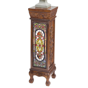 BALDWIN STAINED GLASS PEDESTAL(Available 11/30/18)