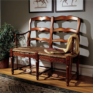 Provincial French Ladderback Settee
