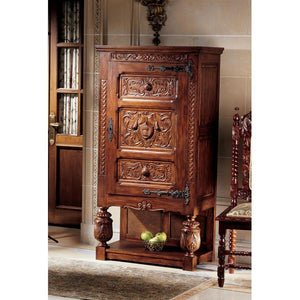 Coat of Arms Gothic Revival Armoire - barsforhomes.com