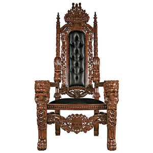 Lord Raffles Throne With Black Leather(Available 12/07/18)
