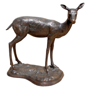 Mother Doe On Base Bronze Statue