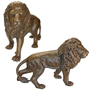 S/2 Bronze Guardian Lion Statues
