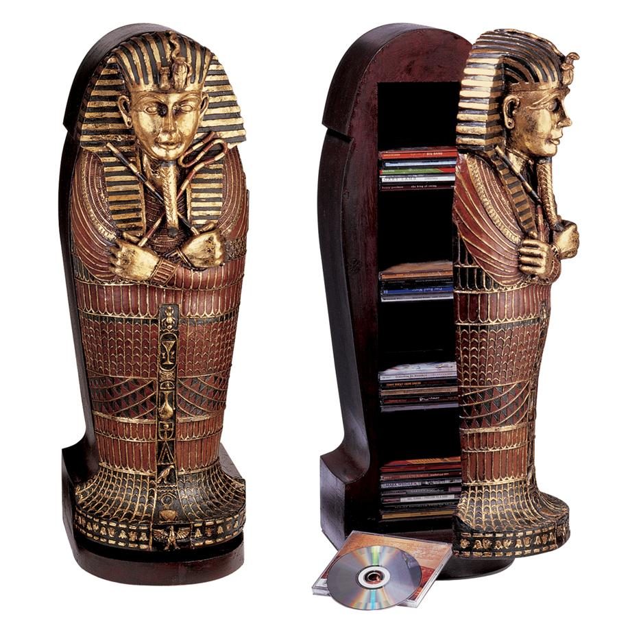 King Tut Sarcophagus Cd Cabinet